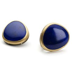 Nicholas Yiannarakis - #LapisLazuli set in 22ct #Gold on a white gold gallery. #Jewellery #Earrings #Blue #MothersDay http://directory.thegoldsmiths.co.uk/seasonal/mothers-day/#modal11
