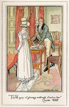 With eyes of glowing entreaty fixed on her. ~ H.M. Brock for Persuasion (Anne & Frederick)