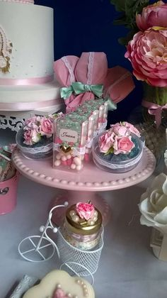 Lovely shabby chic birthday party! See more party ideas at CatchMyParty.com!