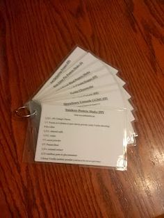 Record's Recipes: Trim Healthy Mama Drink Cards- I printed these out...