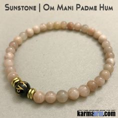 Yoga Bracelets. Om Mani Padme Hum Sunstone. Men's & Women's Law of Attraction. Energy Healing. Beaded Mala. Tibetan Buddhist. #LOA.