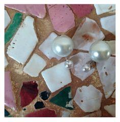 Orecchini  Dior Inspired White Doppia perla Handmade DIY