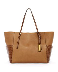 Michael Kors Gia Tote with Crocodile-Embossed Pockets - Michael Kors