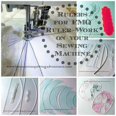 Rulers for free motion quilting ruler work