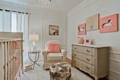 Girl nursery- by RN Interior Design  Neutral colors with natural color wood furniture