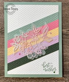 Show off the latest of Stampin' Up!'s In Colors with this fun card layout. Lots of texture and soft colors make for a card that is sure to please. Click for complete instructions. Soft Colors, All The Colors, Christmas Trivia Games, 21 Cards, Washi Tape Cards, Color Contour, Stamping Up, Cool Cards, Thank You Cards