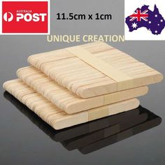 1000 pc Wooden Craft Sticks Paddle Pop Stick Bulk Sell Ice cream Stir for sale online Popsicle Stick Crafts, Popsicle Sticks, Craft Stick Crafts, Crafts For Kids, Craft Kids, Wooden Craft Sticks, Wooden Art, Wooden Crafts, Natural Wood Crafts