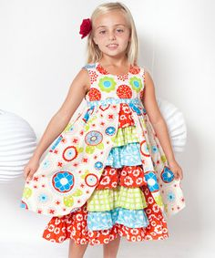 Take a look at this White & Red Pana Cotta Hanna Dress - Infant, Toddler & Girls by Jelly the Pug on #zulily today!