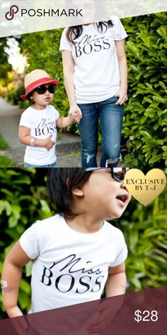 Miss Boss Toddler Tee Miss Boss Toddler Tee made of 100% ringspun cotton. Don't for got to get one for you too! Available in Misses sizes in my closet T&J Designs Shirts & Tops Tees - Short Sleeve