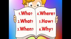 Learn the six questions to ask for reading comprehension. Help student's increase their comprehension skills by learning. Reading Comprehension For Kids, Comprehension Strategies, Music For Kids, Kids Songs, Wh Questions, This Or That Questions, Daily 3 Math, Daily 5, Jack Hartmann