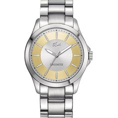 Lacoste 2000705 Watch Sofia Ladies - Golden Dial Stainless Steel Case Quartz Movement *** To view further, visit now