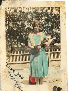 Ukulele, hand colored photo from the 1920s via Flickr.