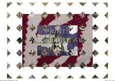 Flannel 01. CG print. Photo-collage of textiles.