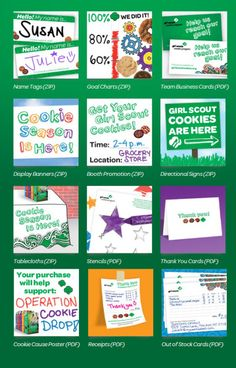 GSUSA's website has some great downloads for the Cookie Program! http://www.girlscouts.org/program/gs_cookies/tools_for_selling.asp