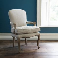 Juliette Armchair in Natural Linen Three Seater Sofa, Natural Linen, Beautiful Interiors, Interior Design Inspiration, Accent Pieces, Contemporary Furniture, Home Accessories, French Style, Armchair