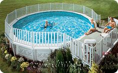 Above Ground Pool Landscaping | above ground pool decks image » above ground pool decks