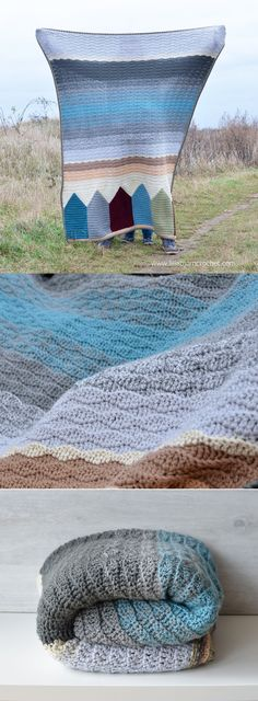 """""""Mute"""" version of Summer in Swanage blanket designed by Dedri Uys (Look At What I Made). Colors and Yardages are in the blog post here http://www.lillabjorncrochet.com/2016/01/birthday-in-malmo-blanket-colors-and.html"""