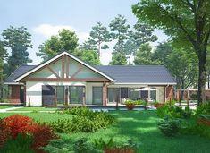 Artemida - murowana – beton komórkowy - zdjęcie 2 Home Fashion, House Plans, Shed, Outdoor Structures, Cabin, House Styles, Home Decor, Decoration Home, Room Decor