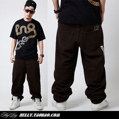 2013 mens Hiphop street trousers pure coffee brown skateboard hiphop hip hop jeans trousers pants for men $34.43