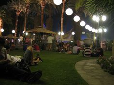 Coachella VIP area at night