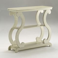 online shopping for Crown Mark Lucy Table Ivory, Console from top store. See new offer for Crown Mark Lucy Table Ivory, Console Decor, Furniture, Living Room Furniture, White End Tables, Rustic Consoles, Living Table, Farmhouse Console Table, Farmhouse Sofa Table, Table