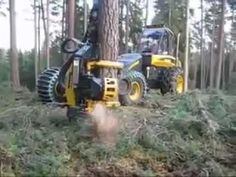 """The Ultimate Wood Cutting Vehicle. """"STAND CLEAR!"""" I'm with Larry, who said, """"That is completely impressive as hell!"""" Here is the original video I saw on Facebook: https://www.facebook.com/betty.brockporter/videos/10205953371726656/ It is mesmerizing to watch!"""