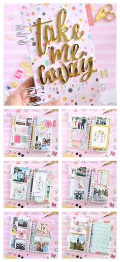 Mini album made with @pinkpaislee @paigeevans Oh My Heart collection and @heidiswapp Memory Planner Photo Sleeves | by @floramfarkas #pinkpaislee #ppohmyheart