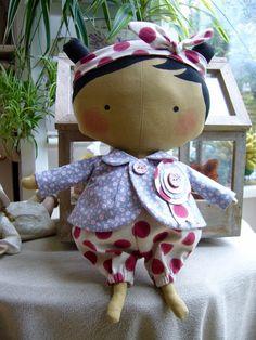 Adorable poupée Tilda sweetheart décorative , sur commande : Jeux, jouets par aujardindemarie