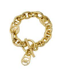 Michael Kors Logo-Lock Charm Bracelet, Golden   85.00