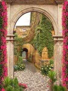 Фрески КЛАССИЧЕСКИЕ « Фото Фреска Brick Archway, Miracle Garden, Make A Door, Knobs And Knockers, Metal Fence, Hindu Deities, 3d Wallpaper, Vintage Prints, Canopy