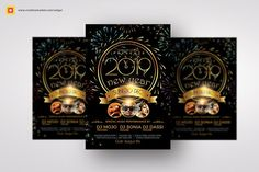 New Year Party Flyer by Satgur Design Studio on @creativemarket