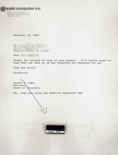Steve Jobs Apple chip letter