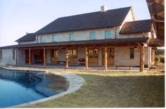 Who says old barns have to be at the foot of a pond?  This would be the most awesome place to entertain guests. :)