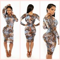 FASHION WOMEN SEXY COLORFUL PRINTED SERPENTINE ROUND NECK CUT SLIM FIT BANDAGE BODYCON ROMPERS DRESS