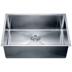 "Dawn USA 26.5"" x 18"" Under Mount Small Corner Radius Single Bowl Kitchen Sink"