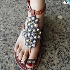 chema gladiator sandals/ tribal sandals / beaded sandals / leather sandals