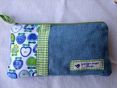 Chimes-Aufbewahrung aus alter Jeans und Stoffresten