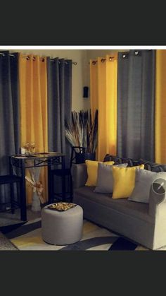 Grey And Yellow Living Room, Living Room Red, Living Room Paint, Living Room Decor Colors, Decor Home Living Room, Easy Home Decor, House Interiors, House Decorations, Paint Colours