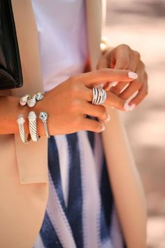 David Yurman bracelets and rings