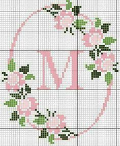 Easiest Crochet Frills Border Ever! Cross Stitch Letters, Cross Stitch Love, Cross Stitch Cards, Cross Stitch Borders, Cross Stitch Flowers, Cross Stitch Designs, Cross Stitching, Cross Stitch Embroidery, Embroidery Patterns