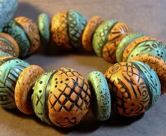 Textured Beads by Marcia Palmer, via Flickr
