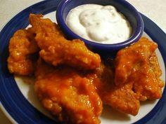 Semi-Baked Boneless Buffalo Wings from favfamilyrecipes.com #recipes #buffalo #wings