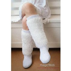 Made to order: Women crochet boots sizes 36 to 41 by magic4kids