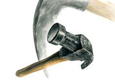 기초디자인 개체 표현 망치 묘사 : 네이버 블로그 Arte Viking, Pencil Drawings, Art Drawings, Observational Drawing, Photorealism, Colorful Drawings, Painting Techniques, Asian Art, Colored Pencils