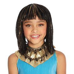 Cleo Wig (Black/Gold) Child Accessory *** Check this awesome product by going to the link at the image.