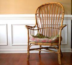 #fauteuil en #rotin #style #classique