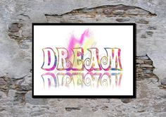 Dream poster Motivational quote Typography poster by melOnDesign