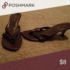 Brown low heel Cute, comfortable brown low heeled shoes Shoes Heels