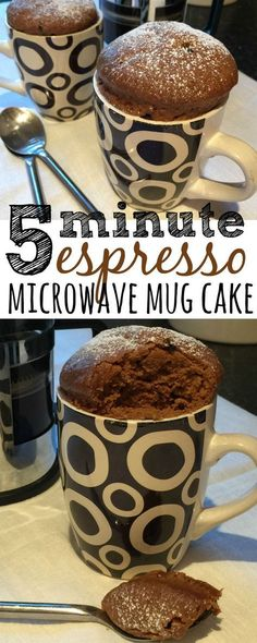 This is a simple and quick recipe for an espresso microwave mug cake which you can be eating it in less than five minutes, with half the washing up of a normal oven-baked cake. I wonder if the cake tastes better out of these nice mugs? Easy Cookie Recipes, Quick Recipes, Baking Recipes, Sweet Recipes, Dessert Recipes, Mug Cake Microwave, Microwave Recipes, Microwave Baking, Oreo Cake Pops