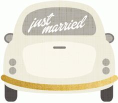 Silhouette Online Store: just married car